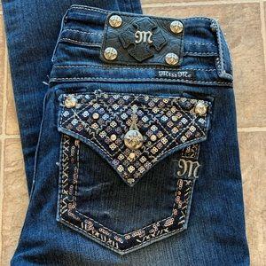Miss Me Dark Wash Signature Skinny Jeans 26x31